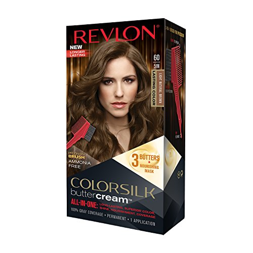Revlon Colorsilk Buttercream Hair Dye, Light Natural Brown, Pack of 1