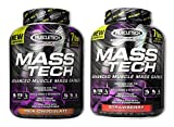 Mass-Tech Mass Gainer Chocolate 7 lbs/Strawberry 7 lb (1 of each)