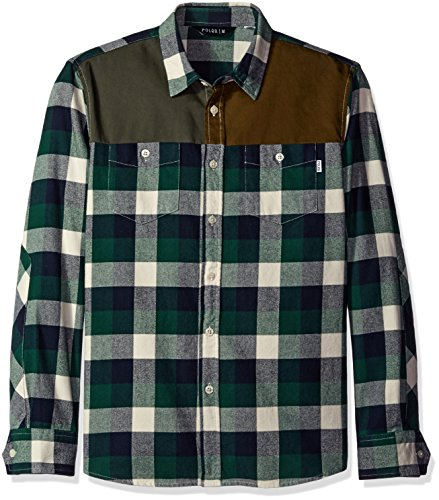 Poler Men's Buffalo Pile Woven Shirt, Green, Medium