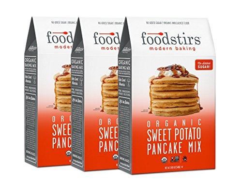 Foodstirs Organic Sweet Potato Pancake Mix 19.05 Ounce, 3 Count
