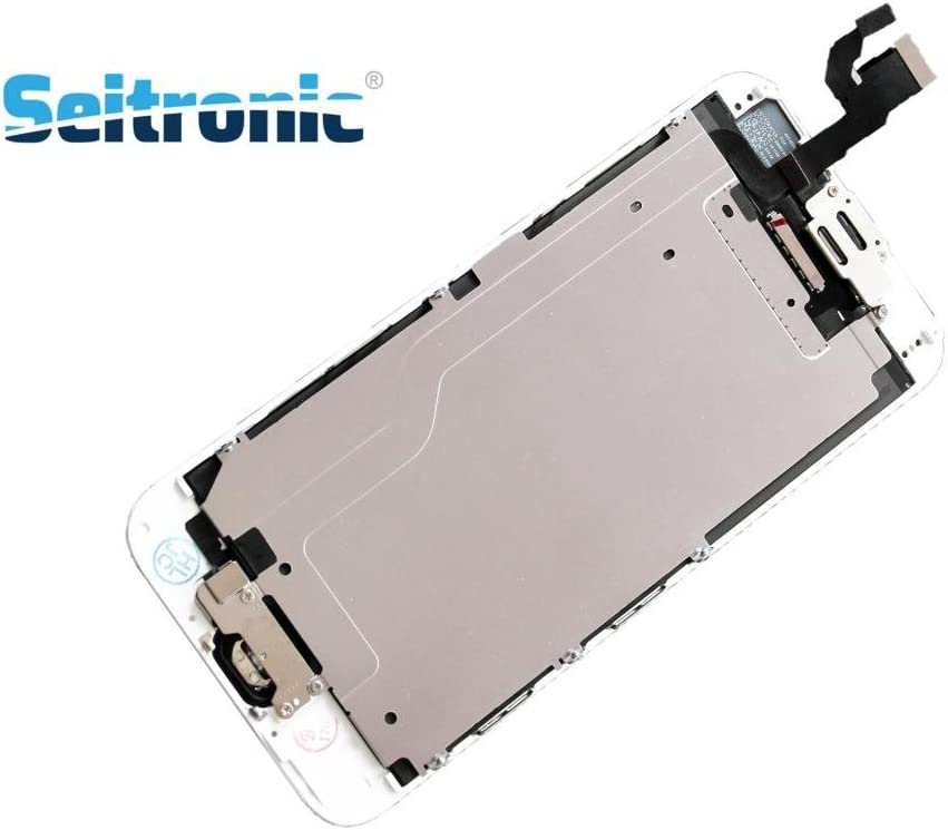 Seitronic Display Vormontiert Komplettset Ersatzdisplay mit Montagewerkzeug LCD Ersatz Touchscreen Glas Reparatur kompatibel mit iPhone 6 wei/ß