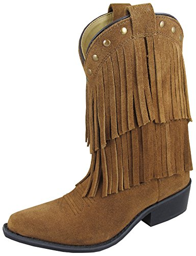 Smoky Girls Wisteria Double Fringe Tan Western Boot (Tan Fringe)