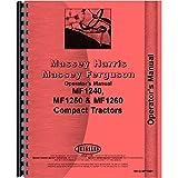 New Massey Ferguson 1250 Compact Tractor Operators Manual