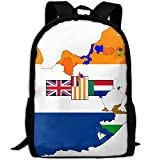 ZQBAAD Flag Map Of South Africa Luxury Print Men And Women's Travel Knapsack