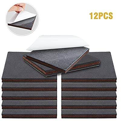 Non Slip Furniture Pads – Premium Furniture Pad! Best Self Adhesive Rubber Feet Furniture Feet – Ideal Non Skid Furniture Pad Floor Protectors