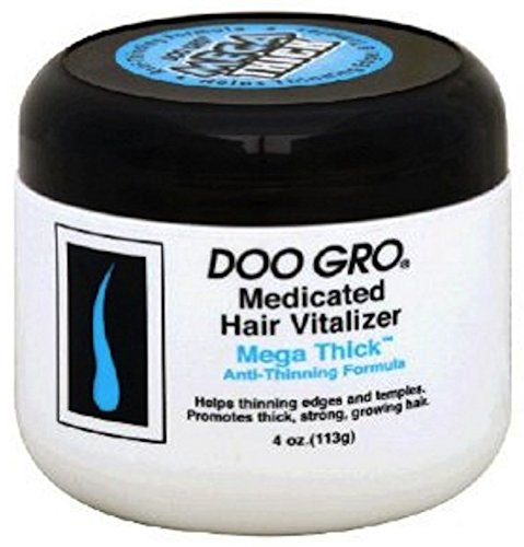 DOO GRO Medicated Hair Vitalizer Mega Thick Anti-Thinning Formula, 4 oz (Pack of 4)