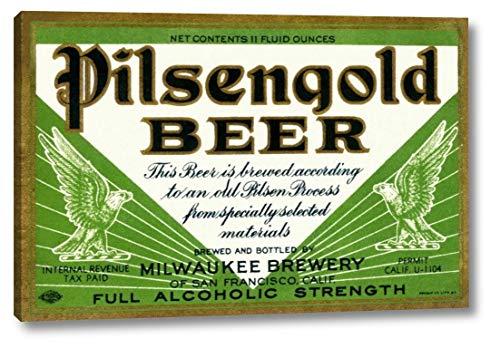 Pilsengold Beer by Vintage Booze Labels - 13