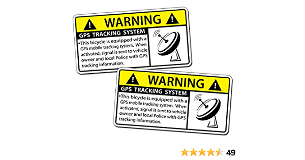 Anti Theft Safety Decal Bicycle GPS Tracking Stickers Bike Protect.Us