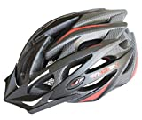 MOON Road and Mountain Bike MTB Helmet, Light Weight with High Grade EPS and PC(Balck & Red)