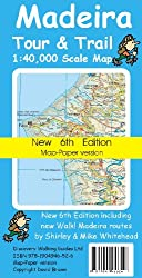 Madeira Tour and Trail Map 6th edition Map-Paper version (Tour & Trail Maps)