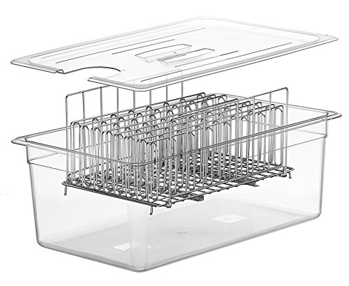 LIPAVI Sous Vide Rack - Model L20 - Marine Quality 316L Stainless Steel - Square 13.2 x 9.8 Inch - Adjustable, Collapsible, Ensures even and Quick warming - Fits LIPAVI C20 Container by LIPAVI (Image #4)
