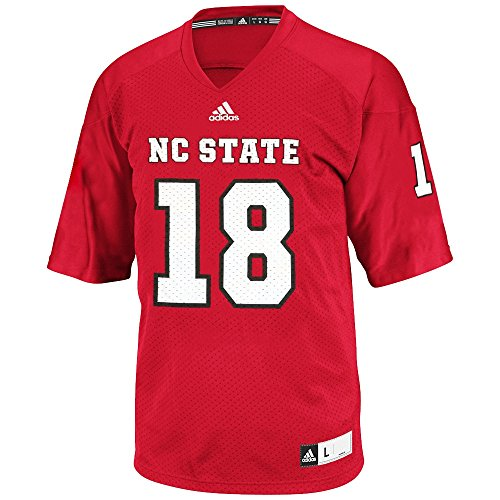 adidas NC State Wolfpack NCAA Official #18 Home Red Football Replica Jersey Men (Wolfpack Red Adidas Replica Football)