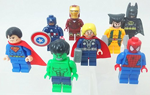 Lot of 8 Super Heroes Avengers Minifigures LEGO Toys Captain Hulk Iron Man