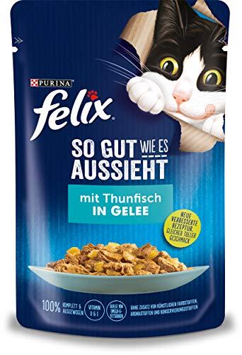 FELIX So gut wie es aussieht Katzenfutter nass in Gelee, Sorten-Mix, 24er oder 26er Pack