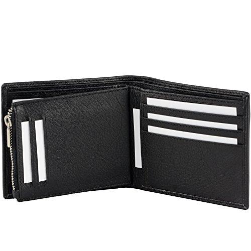 Echt Leder Herren Geldbörse bis 24 Karten Portemonnaie Brieftasche Geldbeutel