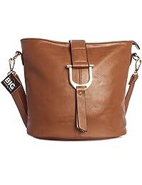 Big Handbag Shop Womens Faux Leather Bucket Style Cross Body Shoulder Bag