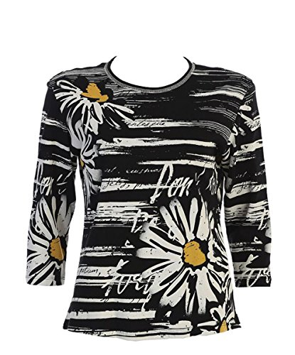 em Cotton Top In Black - 14-1157BK (XL) (Le Top Daisy)