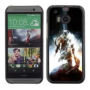 HTC One M8 , Radio-Star - Cáscara Funda Case Caso De Plástico (Dragonborn - Sky Rim Elder Scrols)