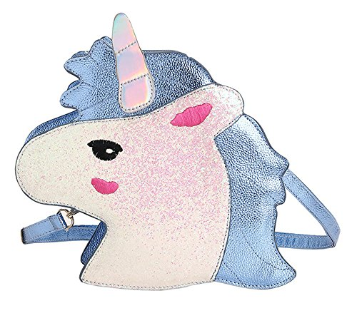 Women's Unicorn PU Shoulder Bag Messenger Bag Handbag - Pink / Blue