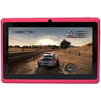 Yuntab 8GB Y88 7 inch Tablet Google Android 4.4 Quad-core Tablet PC HD 1024x600 Resolution Bluetooth with Dual Camera Google Play Pre-loaded External 3G Netflix, Skype, 3D Game Supported (Pink)
