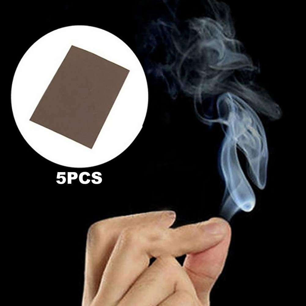 Deanyi Magic Gimmick Prop Magic Smoke from Finger Tips Smoke Magician Fantasy Trick Props 5Pcs