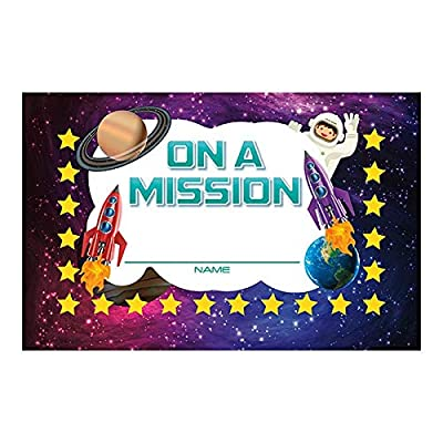 North Star Teacher Resources On a Mission Incentive Punch Cards Set of 36 (NS2420): Toys & Games
