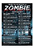 Brand New Novelty How to survive a zombie attack Metal Sign - Great Gift Item!