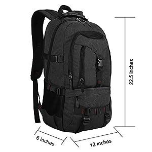 KAKA Terylene Fabric Backpack for 17-Inch Laptops Black New