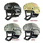 Gezichta Casque tactique de protection style MICH 2001 avec support NVG et rails latéraux pour paintball, airsoft ou CS 8