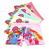 2-8 Years Old Girls Little Pony Boyshort Panties Pink Pattern Underwear,Multipack
