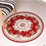 BeesClover Round Carpet Living Room Carpet Swivel Chair Computer Chair Hanging Household Dining Room Bedroom Carpet red 029 90cm Round