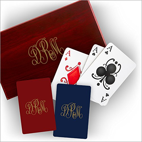 Boxed Playing Cards - with Monogram by American Stationery
