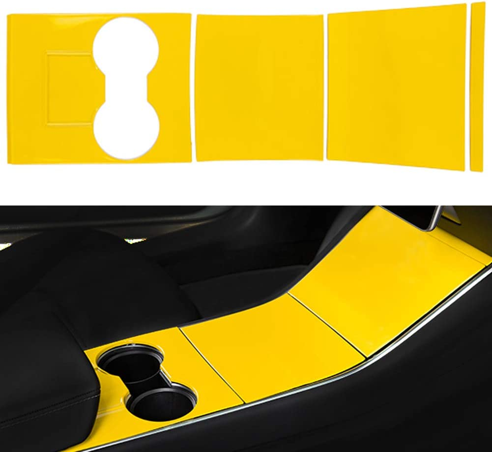 black Tesla Model 3 Center Console Wrap Kit ABS Plastic Console Protector Cover Fits Tesla Model 3//Tesla Model 3 Y