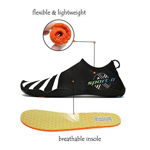 Lxso Uomo Donna Water Shoes Multifunzionale Quick-dry Aqua Shoes Scarpe Da Nuoto Leggere Con Fori Di Drenaggio 3-neri