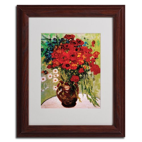 Vincent Van Gogh Daisies and Poppies Framed