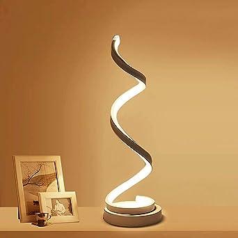 Spiral LED Nachttischlampe Dimmbar Schreibtischlampe Tischleuchte Modern Lampe