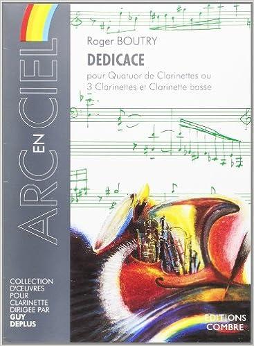Book Dédicace pour 4 Clarinettes