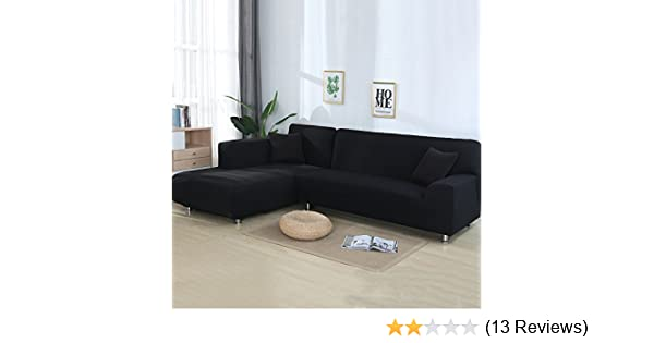 Amazon Com Cjc Universal Sofa Covers For L Shape 2pcs Polyester