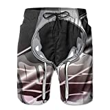 Men's Swim Trunks Hip Hop Man Quick Dry Summer Casual Cool Beach Board Shorts Vacation Surfing Bathing Suit