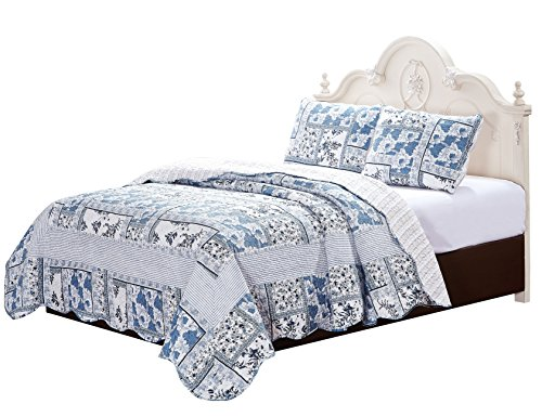 Melissa Quilt with Pillow shams set (Super King) by Patch Magic