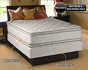 princess dream plush pillow top king size mattress and box spring set