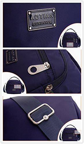 AOTIAN 7153 - Bolso estilo cartera para mujer Morado C-PURPLE small H-LAKE
