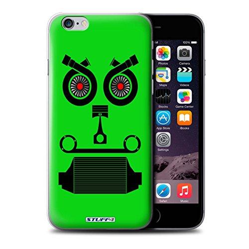 Stuff4 Hülle / Hülle für Apple iPhone 6+/Plus 5.5 / Turbo/Grün Muster / Autoteile Gesichter Kollektion