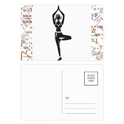 Amazon.com : Yoga Girl Stand Keep Silhouette Formula ...