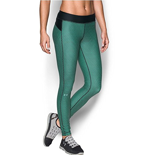 Under Armour Women's HeatGear Armour Printed Legging, Black/Crystal, X-Large