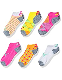 PUMA girls Puma Girls 6pk Low Cut Sock Running Socks