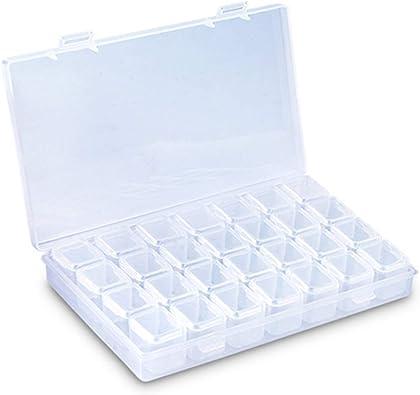 Haokaini Caja de Almacenamiento de Cuentas de Cristal Contenedor de Organizador de Joyas Estuche para Uñas de Diamantes de Imitación Ideal para Coser a Mano Bordados de Diamantes de Uñas: Amazon.es: Joyería