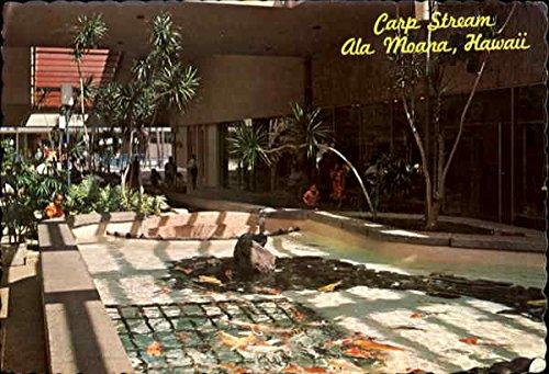 Mall Carp Stream Honolulu, Hawaii Original Vintage - Honolulu Mall