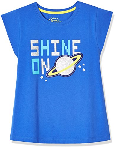 Price comparison product image A for Awesome Girls Cap Sleeve Tee Large Ellis Blue