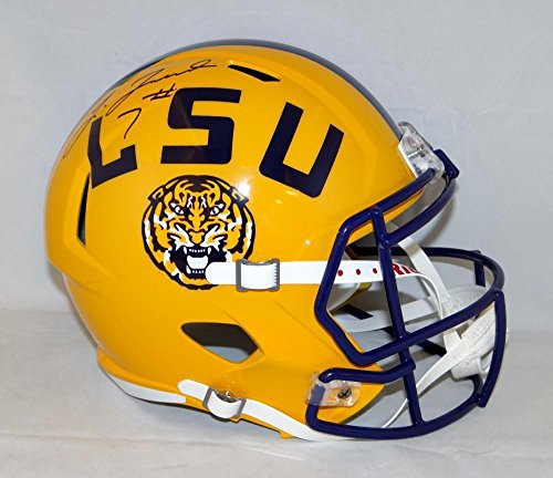 Leonard Fournette Autographed Lsu Tigers Full Size Speed Helmet  Jsa Authenticated W Auth